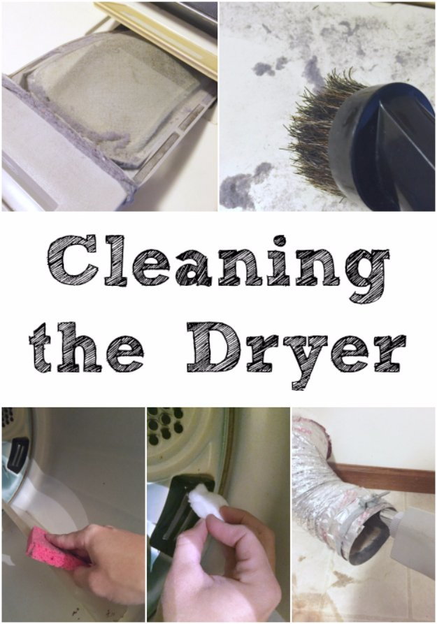 Cleaning Tips and Hacks To Keep Your Home Sparkling. Cleaning the Dryer - Clever Ways to Make DYI Cleaning Easy. Bedroom, Bathroom, Kitchen, Garage, Floors, Countertops, Tub and Shower, Til, Laundry and Clothes