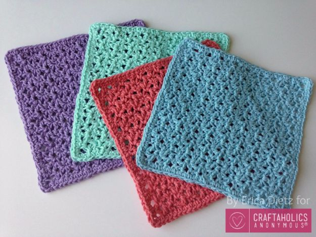 Creative DIY Mothers Day Gifts Ideas - Crochet Washcloths - Thoughtful Homemade Gifts for Mom. Handmade Ideas from Daughter, Son, Kids, Teens or Baby - Unique, Easy, Cheap Do It Yourself Crafts To Make for Mothers Day, complete with tutorials and instructions #mothersday