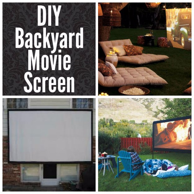 DIY Ideas to Get Your Backyard Ready for Summer - DIY Backyard Movie Screen- Cool Ideas for the Yard This Summer. Furniture, Games and Fun Outdoor Decor both Adults and Kids Will Enjoy