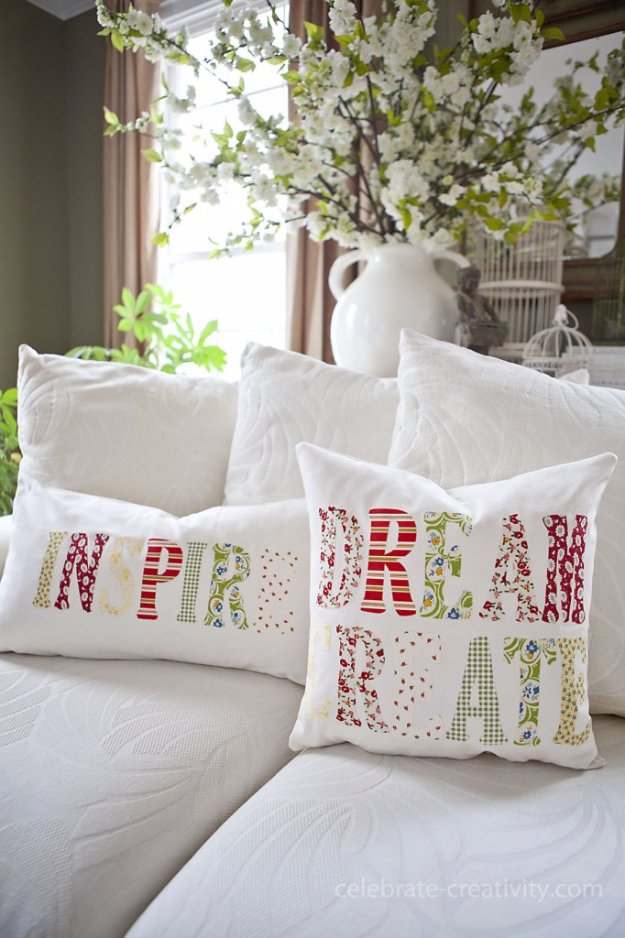 DIY Pillows and Creative Pillow Projects - DIY Inspiration Throw Pillows Tutorial - Decorative Cases and Covers, Throw Pillows, Cute and Easy Tutorials for Making Crafty Home Decor - Sewing Tutorials and No Sew Ideas