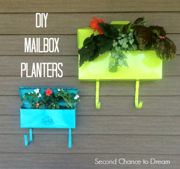 DIY Ideas to Get Your Backyard Ready for Summer - DIY Mailbox Planters - Cool Ideas for the Yard This Summer. Furniture, Games and Fun Outdoor Decor both Adults and Kids Will Enjoy