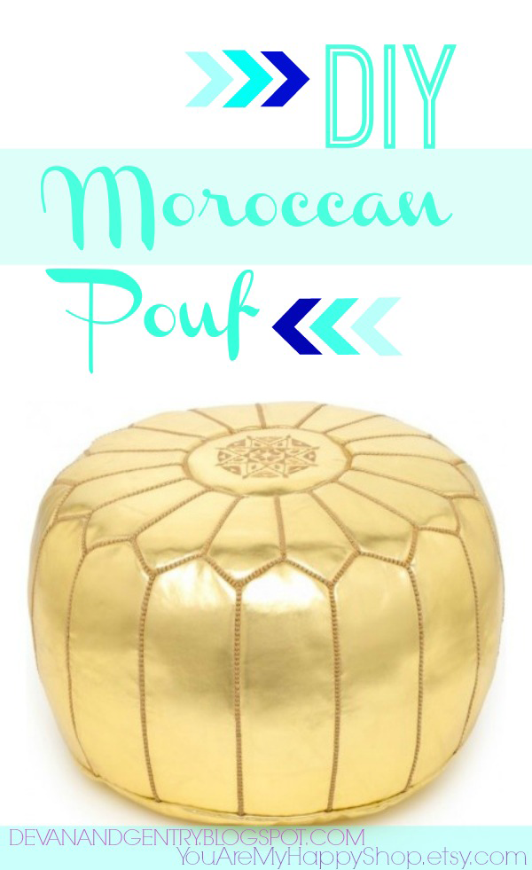 Fabulous DIY Poufs and Ottomans - DIY Moroccan Pouf - Step by Step Tutorials and Easy Patterns for Cool Home Decor. Crochet, No Sew, Leather, Moroccan Boho, Knit and Fun Fur Projects and Chair Ideas #diy #diyfurniture #sewing