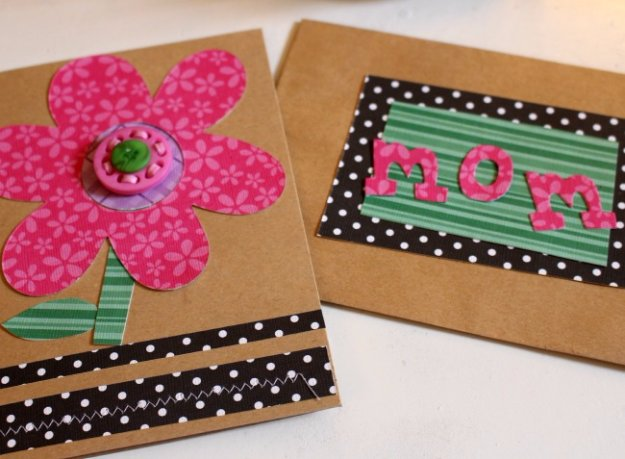 DIY Mothers Day Cards - DIY Mother's Day Card with Buttons - Creative and Thoughtful Homemade Card Ideas for Mom - Step by Step Tutorials, Best Quotes, Handmade Projects http://diyjoy.com/diy-mothers-day-cards