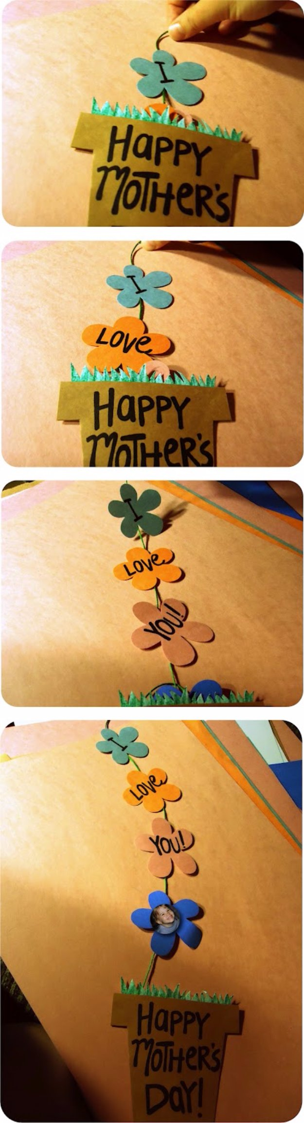 DIY Mothers Day Cards - DIY Mother's Day flower Pot Card - Creative and Thoughtful Homemade Card Ideas for Mom - Step by Step Tutorials, Best Quotes, Handmade Projects