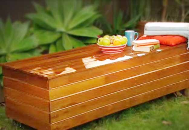 DIY Ideas for Your Garden - DIY Outdoor Storage Bench Tutorial - Cool Projects for Spring and Summer Gardening - Planters, Rocks, Markers and Handmade Decor for Outdoor Gardens
