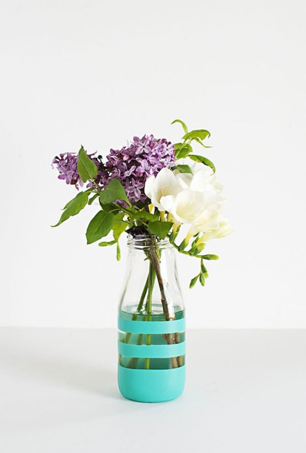 DIY Home Decor Projects for Summer - DIY Painted Bottles - Creative Summery Ideas for Table, Kitchen, Wall Art and Indoor Decor for Summer