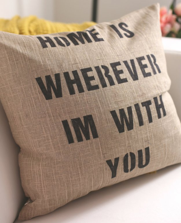 DIY Pillows and Creative Pillow Projects - DIY Quote Pillows - Decorative Cases and Covers, Throw Pillows, Cute and Easy Tutorials for Making Crafty Home Decor - Sewing Tutorials and No Sew Ideas
