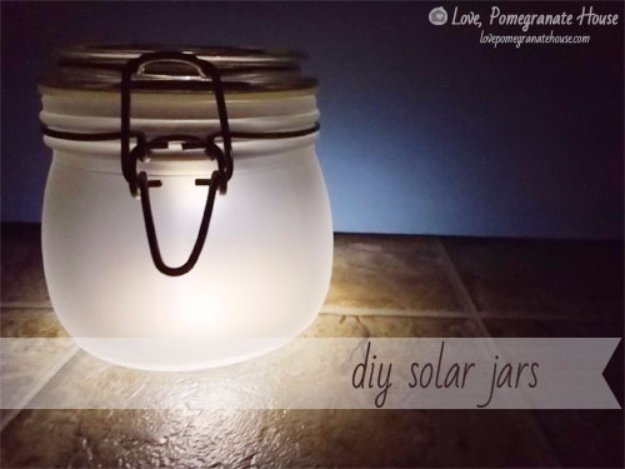 Mason Jar Ideas for Summer - DIY Solar Jars - Mason Jar Crafts, Decor and Gifts, Centerpieces and DIY Projects With Jars That Are Perfect For Summertime - Fun and Easy Lights, Cool Vases, Creative 4th of July Ideas