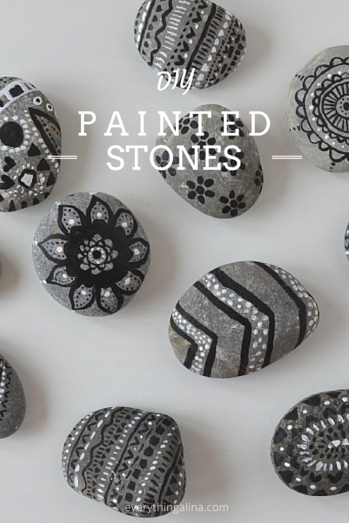 DIY Tribal Painted Stones