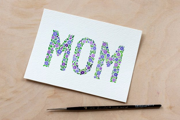 DIY Mothers Day Cards - DIY Watercolor Mother's Day Card - Creative and Thoughtful Homemade Card Ideas for Mom - Step by Step Tutorials, Best Quotes, Handmade Projects http://diyjoy.com/diy-mothers-day-cards