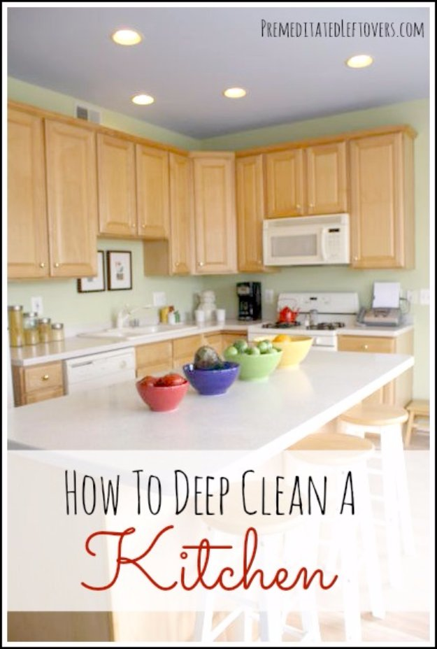 Cleaning Tips and Hacks To Keep Your Home Sparkling. Deep Clean Your Kitchen - Clever Ways to Make DYI Cleaning Easy. Bedroom, Bathroom, Kitchen, Garage, Floors, Countertops, Tub and Shower, Til, Laundry and Clothes