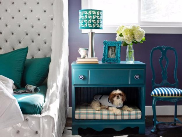 DIY Dog Beds - Dresser into a Dog Bed Nightstand - Projects and Ideas for Large, Medium and Small Dogs. Cute and Easy No Sew Crafts for Your Pets. Pallet, Crate, PVC and End Table Dog Bed Tutorials #pets #diypet #dogs #diyideas