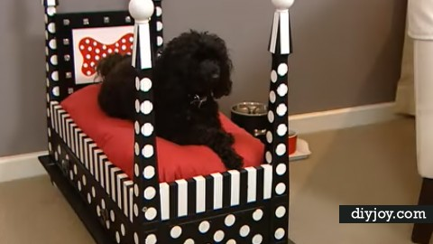 DIY End Table Dog Bed   DIY Joy Projects and Crafts Ideas