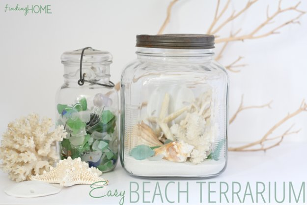DIY Home Decor Projects for Summer - Easy Beach Terrarium - Creative Summery Ideas for Table, Kitchen, Wall Art and Indoor Decor for Summer