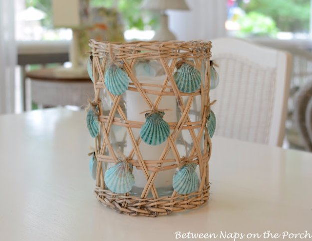 DIY Home Decor Projects for Summer - Easy Seashell Craft for your Summer House - Creative Summery Ideas for Table, Kitchen, Wall Art and Indoor Decor for Summer