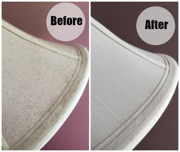 Cleaning Tips and Hacks To Keep Your Home Sparkling. Easy Way to Dust Lamp Shades - Clever Ways to Make DYI Cleaning Easy. Bedroom, Bathroom, Kitchen, Garage, Floors, Countertops, Tub and Shower, Til, Laundry and Clothes