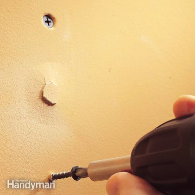 Home Improvement Hacks. - Fix Popped Drywall Nails and Screws - Remodeling Ideas and DIY Home Improvement Made Easy With the Clever, Easy Renovation Ideas. Kitchen, Bathroom, Garage. Walls, Floors, Baseboards,Tile, Ceilings, Wood and Trim #diy #homeimprovement