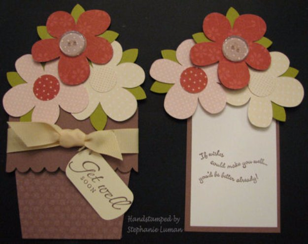 DIY Mothers Day Cards - Flower Pot Pocket Card - Creative and Thoughtful Homemade Card Ideas for Mom - Step by Step Tutorials, Best Quotes, Handmade Projects