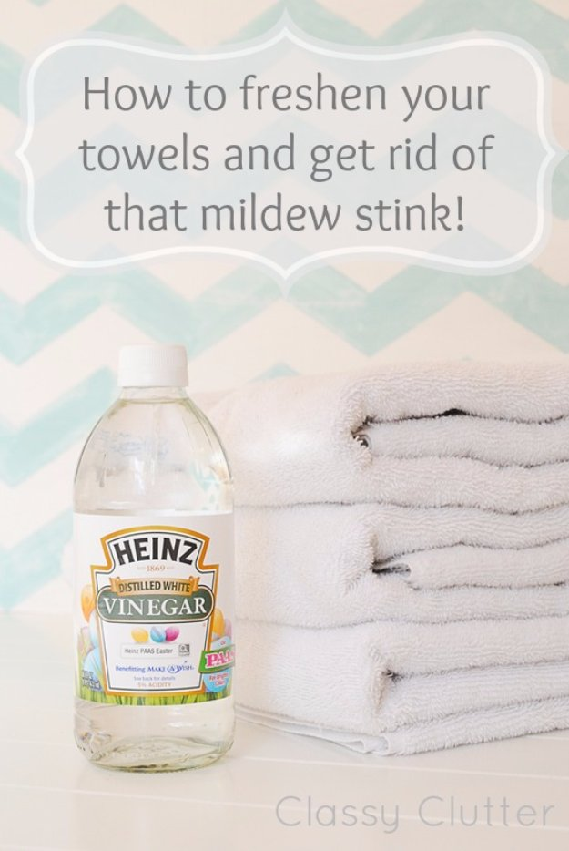 Cleaning Tips and Hacks To Keep Your Home Sparkling. Freshen Your Towels and Get Rid of Mildew Stink - Clever Ways to Make DYI Cleaning Easy. Bedroom, Bathroom, Kitchen, Garage, Floors, Countertops, Tub and Shower, Til, Laundry and Clothes