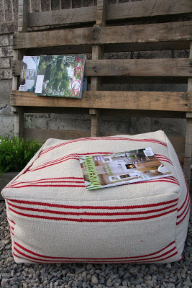 Fabulous DIY Poufs and Ottomans - From Floor Mats to Poufs - Step by Step Tutorials and Easy Patterns for Cool Home Decor. Crochet, No Sew, Leather, Moroccan Boho, Knit and Fun Fur Projects and Chair Ideas #diy #diyfurniture #sewing