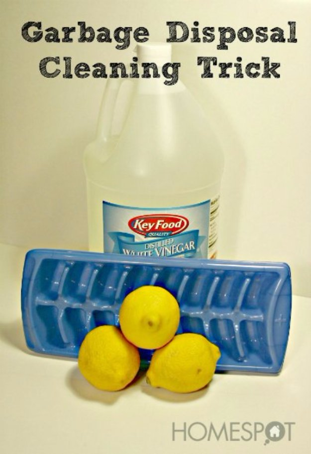 Cleaning Tips and Hacks To Keep Your Home Sparkling. Garbage Disposal Cleaning Trick - Clever Ways to Make DYI Cleaning Easy. Bedroom, Bathroom, Kitchen, Garage, Floors, Countertops, Tub and Shower, Til, Laundry and Clothes