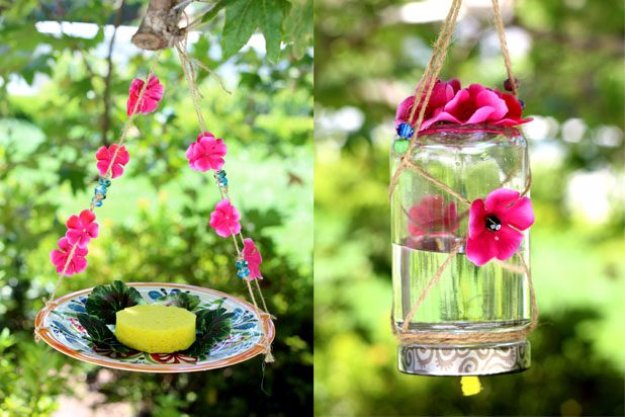 DIY Ideas to Get Your Backyard Ready for Summer - Homemade Butterfly Feeder - Cool Ideas for the Yard This Summer. Furniture, Games and Fun Outdoor Decor both Adults and Kids Will Enjoy