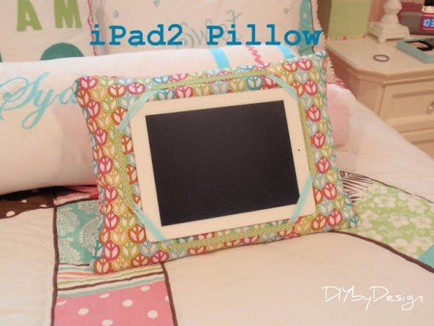 DIY Pillows and Creative Pillow Projects -Ipad Pillow Tutorial- Decorative Cases and Covers, Throw Pillows, Cute and Easy Tutorials for Making Crafty Home Decor - Sewing Tutorials and No Sew Ideas