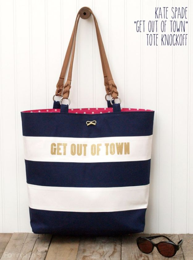 Creative DIY Mothers Day Gifts Ideas - Kate Spade Nautical Tote Knock Off - Thoughtful Homemade Gifts for Mom. Handmade Ideas from Daughter, Son, Kids, Teens or Baby - Unique, Easy, Cheap Do It Yourself Crafts To Make for Mothers Day, complete with tutorials and instructions http://diyjoy.com/diy-mothers-day-gift-ideas