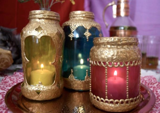 Mason Jar Ideas for Summer - Mason Jar Moroccan Lanterns - Mason Jar Crafts, Decor and Gifts, Centerpieces and DIY Projects With Jars That Are Perfect For Summertime - Fun and Easy Lights, Cool Vases, Creative 4th of July Ideas