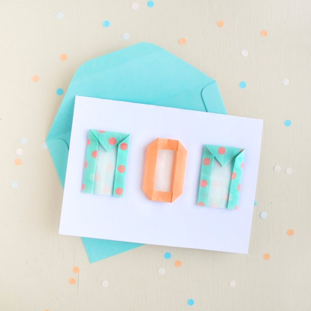 DIY Mothers Day Cards - MotherGÇÖs Day Card with Origami Letters - Creative and Thoughtful Homemade Card Ideas for Mom - Step by Step Tutorials, Best Quotes, Handmade Projects http://diyjoy.com/diy-mothers-day-cards