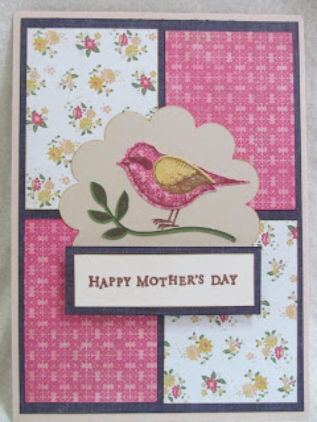 DIY Mothers Day Cards - Mother's Day Bird Card - Creative and Thoughtful Homemade Card Ideas for Mom - Step by Step Tutorials, Best Quotes, Handmade Projects