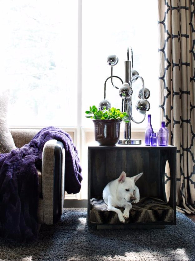 DIY Dog Beds - Plywood Dog Bed - Projects and Ideas for Large, Medium and Small Dogs. Cute and Easy No Sew Crafts for Your Pets. Pallet, Crate, PVC and End Table Dog Bed Tutorials #pets #diypet #dogs #diyideas