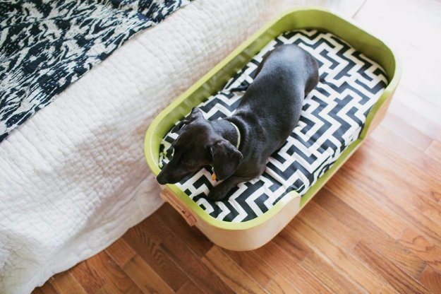 DIY Dog Beds - Poplar Hardwood Dog Bed - Projects and Ideas for Large, Medium and Small Dogs. Cute and Easy No Sew Crafts for Your Pets. Pallet, Crate, PVC and End Table Dog Bed Tutorials #pets #diypet #dogs #diyideas