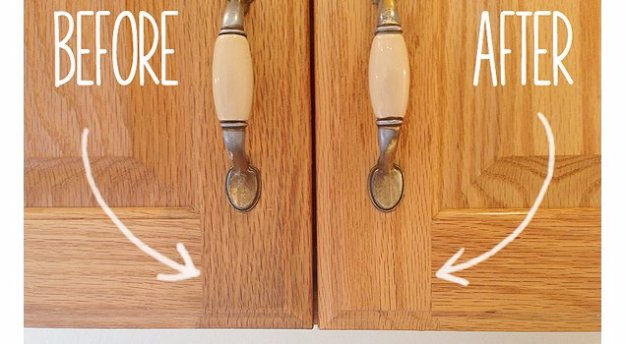 Cleaning Tips and Hacks To Keep Your Home Sparkling. Remove Gunk From Kitchen Cabinet - Clever Ways to Make DYI Cleaning Easy. Bedroom, Bathroom, Kitchen, Garage, Floors, Countertops, Tub and Shower, Til, Laundry and Clothes http://diyjoy.com/best-cleaning-tips-hacks