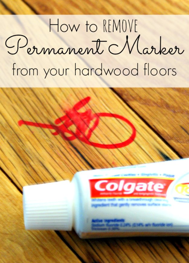 Cleaning Tips and Hacks To Keep Your Home Sparkling. Remove Permanent Marker on Your Hardwood Floors - Clever Ways to Make DYI Cleaning Easy. Bedroom, Bathroom, Kitchen, Garage, Floors, Countertops, Tub and Shower, Til, Laundry and Clothes