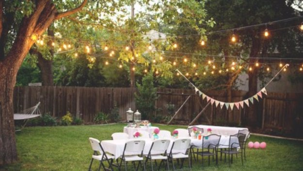 DIY Ideas to Get Your Backyard Ready for Summer - Romantically Rustic DIY Backyard Lighting- Cool Ideas for the Yard This Summer. Furniture, Games and Fun Outdoor Decor both Adults and Kids Will Enjoy