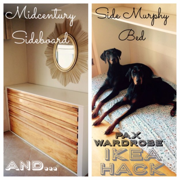 DIY Dog Beds - Side Murphy Dog Bed - Projects and Ideas for Large, Medium and Small Dogs. Cute and Easy No Sew Crafts for Your Pets. Pallet, Crate, PVC and End Table Dog Bed Tutorials #pets #diypet #dogs #diyideas