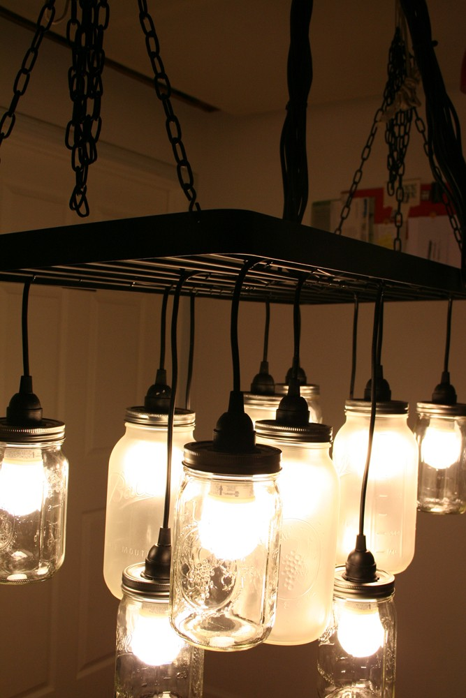 Mason Jar Lights - Southern Charm Mason Jar Chandelier - DIY Ideas with Mason Jars for Outdoor, Kitchen, Bathroom, Bedroom and Home, Wedding. How to Make Hanging Lanterns, Rustic Chandeliers and Pendants, Solar Lights for Outside