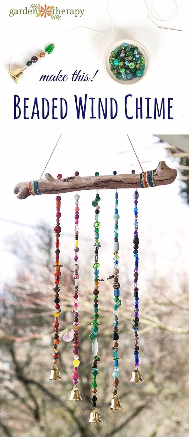 36 diys you need for your garden for Wind chime craft projects