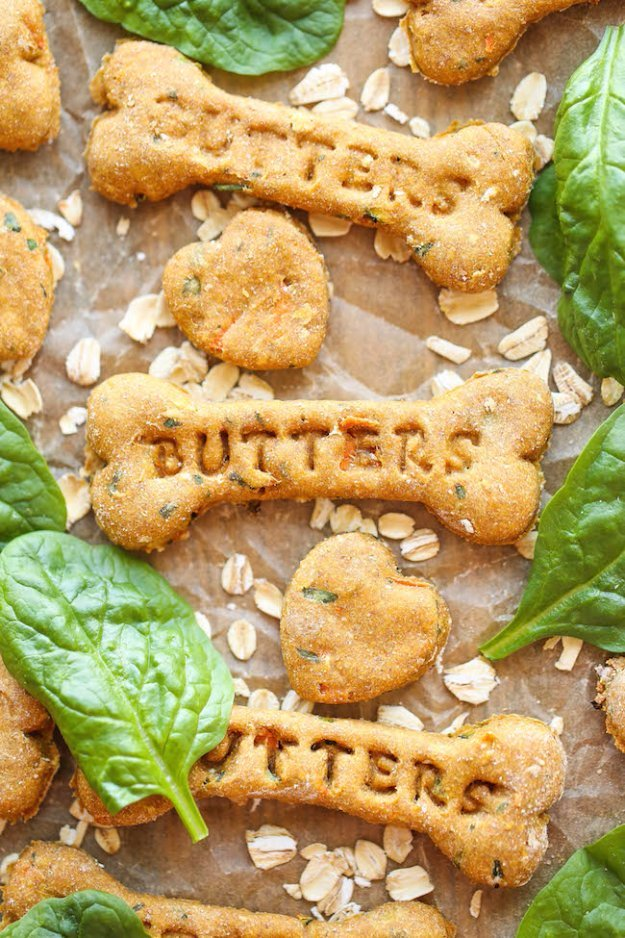 DIY Pet Recipes For Treats and Food - Spinach, Carrot and Zucchini Dog Treats - Dogs, Cats and Puppies Will Love These Homemade Products and Healthy Recipe Ideas - Peanut Butter, Gluten Free, Grain Free - How To Make Home made Dog and Cat Food