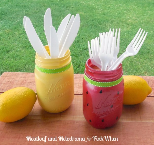 Mason Jar Ideas for Summer - Summer Mason Jar DIY - Mason Jar Crafts, Decor and Gifts, Centerpieces and DIY Projects With Jars That Are Perfect For Summertime - Fun and Easy Lights, Cool Vases, Creative 4th of July Ideas