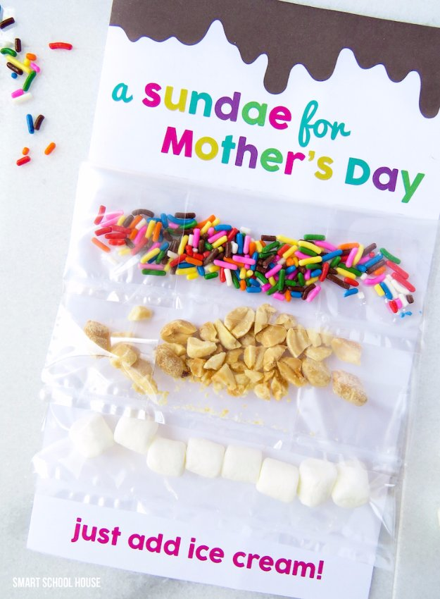 DIY Mothers Day Cards - Sundae Card for Mother's Day - Creative and Thoughtful Homemade Card Ideas for Mom - Step by Step Tutorials, Best Quotes, Handmade Projects