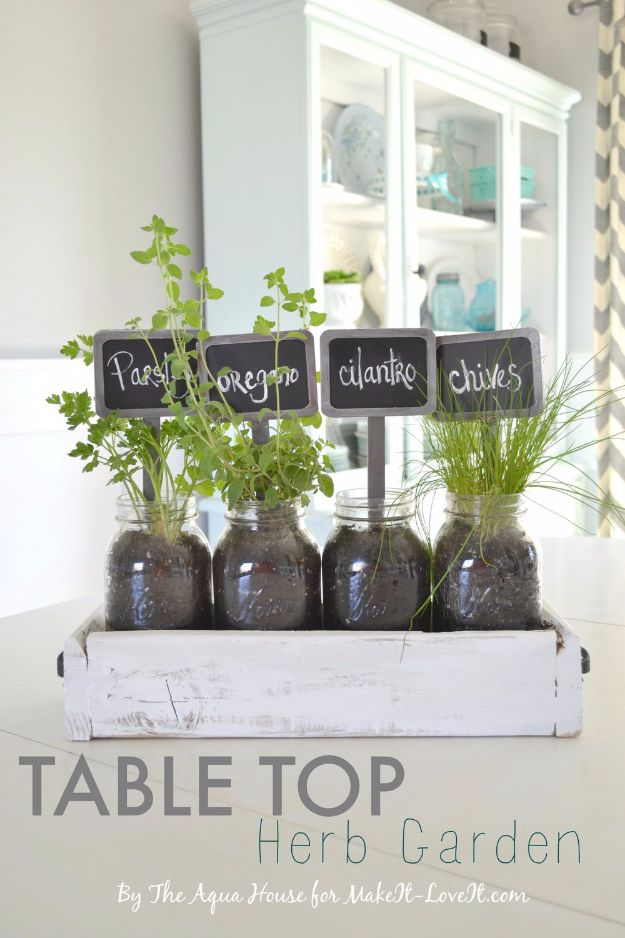Creative DIY Mothers Day Gifts Ideas - Table Top Herb Garden from an Old Pallet - Thoughtful Homemade Gifts for Mom. Handmade Ideas from Daughter, Son, Kids, Teens or Baby - Unique, Easy, Cheap Do It Yourself Crafts To Make for Mothers Day, complete with tutorials and instructions #mothersday