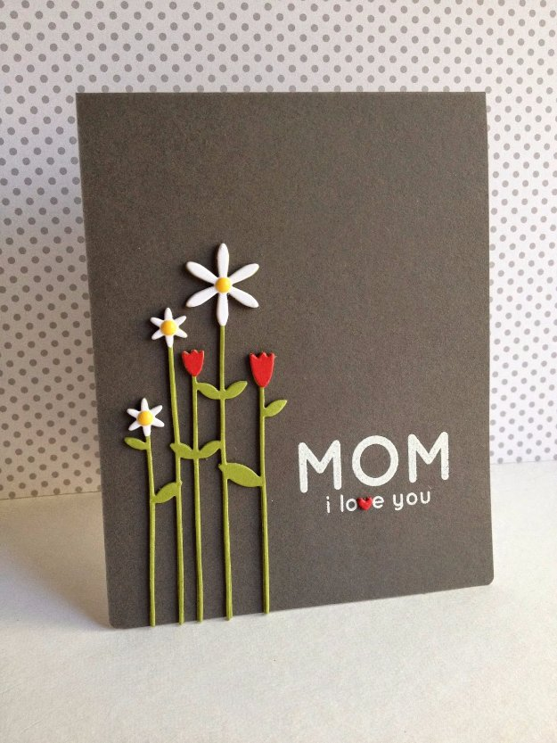 DIY Mothers Day Cards - Tall Flowers for Mom - Creative and Thoughtful Homemade Card Ideas for Mom - Step by Step Tutorials, Best Quotes, Handmade Projects