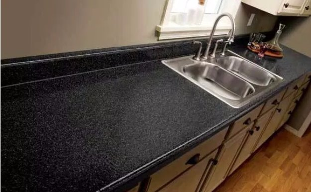 Home Improvement Hacks. - Transform Countertop to Look Like Expensive Stone - Remodeling Ideas and DIY Home Improvement Made Easy With the Clever, Easy Renovation Ideas. Kitchen, Bathroom, Garage. Walls, Floors, Baseboards,Tile, Ceilings, Wood and Trim. http://diyjoy.com/home-improvement-hacks
