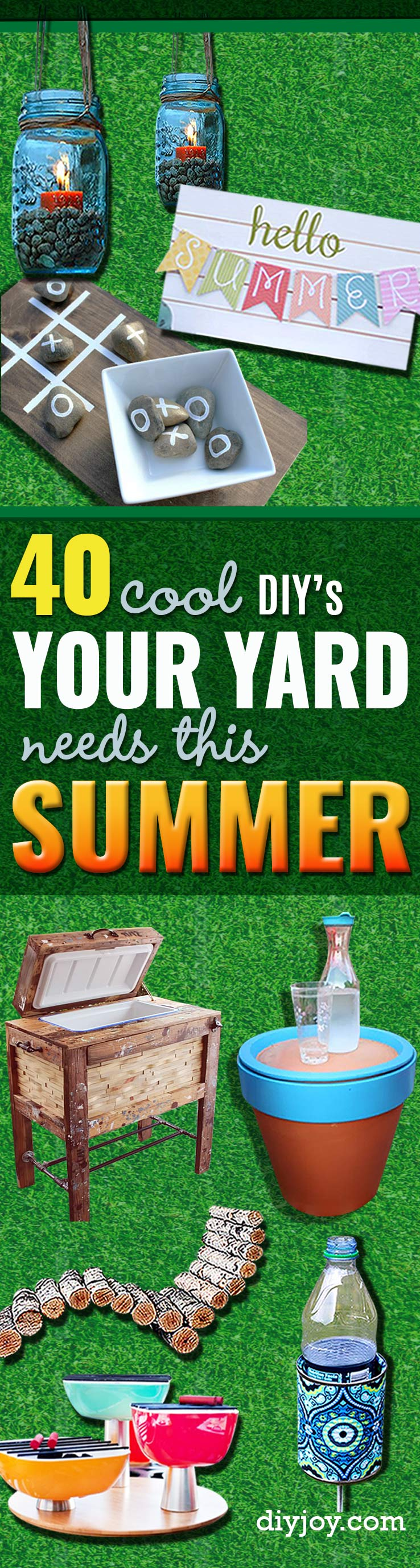 41 cool diys to get your backyard ready for summer diy joy