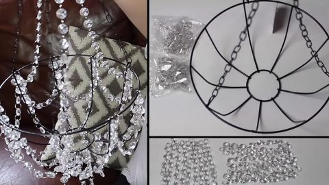 Dollar Store Craft Idea: Beaded Chandelier   DIY Joy Projects and Crafts Ideas