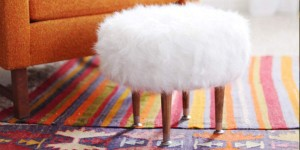 "Fabulous Fluffy Fur Footstool You Will Be Adding to Your ""Must Make Next"" List"