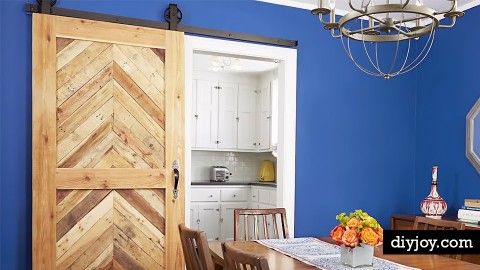 These Inexpensive DIY Sliding Barn Doors Are Totally Doable! | DIY Joy Projects and Crafts Ideas