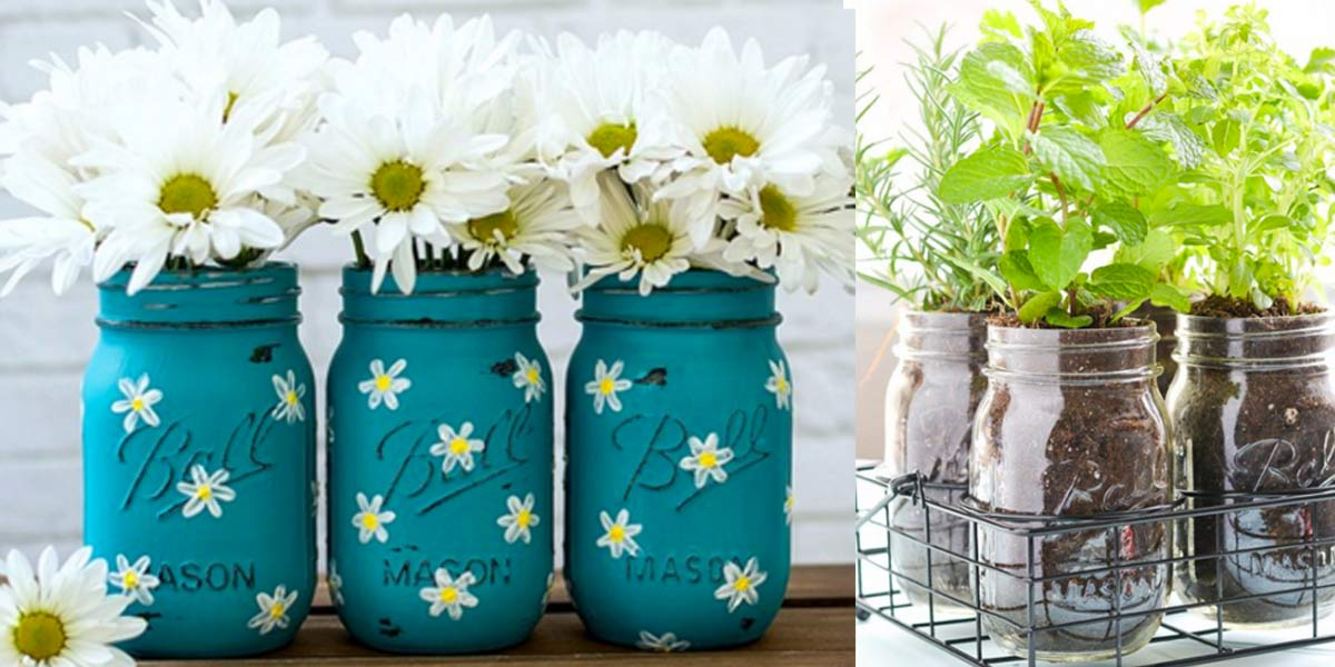 Good Mason Jar Decor Part - 1: 37 Fabulous Mason Jar DIYs For Summer
